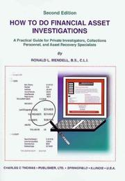 Cover of: How to Do Financial Asset Investigations | Ronald L. Mendell