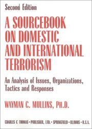 Cover of: A sourcebook on domestic and international terrorism