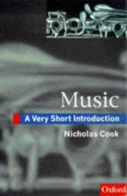 Cover of: Music | Nicholas Cook
