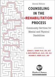 Cover of: Counseling in the Rehabilitation Process | Gerald L. Gandy