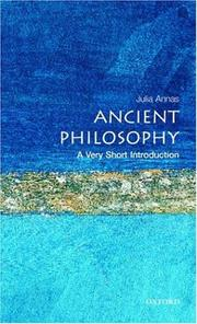 Cover of: Ancient Philosophy: A Very Short Introduction