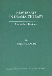 Cover of: New Essays in Drama Therapy | Robert J. Landy