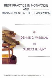 Cover of: Best practice in motivation and management in the classroom