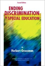 Cover of: Ending Discrimination in Special Education | Herbert Grossman