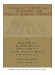 Cover of: Systematic Instruction in Reading for Spanish-Speaking Students | John Shefelbine