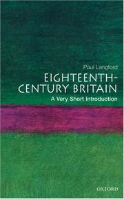 Cover of: Eighteenth-century Britain | Paul Langford
