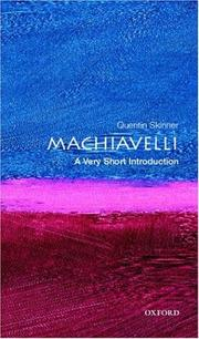 Machiavelli by Quentin Skinner