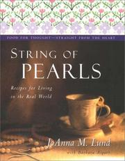 Cover of: String of pearls: recipes for living well in the real world