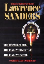 Cover of: Three complete novels | Lawrence Sanders