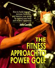 Cover of: The fitness approach to power golf