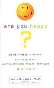 Cover of: Are You Happy? | Louis H. Janda