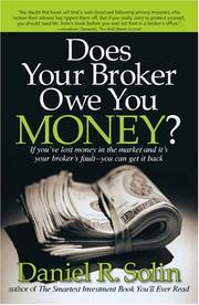 Cover of: Does Your Broker Owe You Money? | Daniel R. Solin