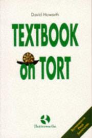 Cover of: Textbook on Tort | David Howarth