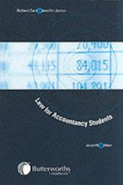 Law for accountancy students by Richard Card