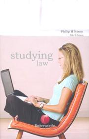 Cover of: Studying Law | Phillip H. Kenny