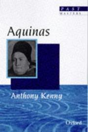 Cover of: Aquinas (Past Masters)