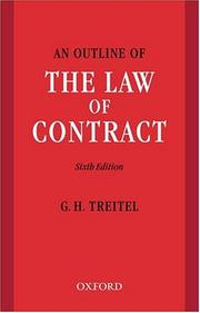Cover of: An outline of the law of contract