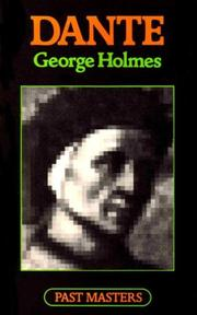 Cover of: Dante | George Holmes