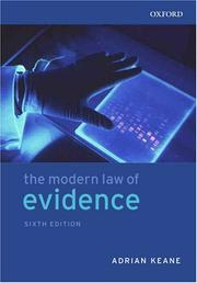 Cover of: modern law of evidence | Keane, Adrian LL.B.
