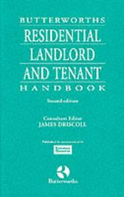 Cover of: Butterworths Residential Landlord and Tenant Handbook