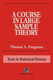 Cover of: A course in large sample theory | Ferguson, Thomas S.