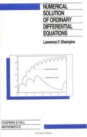 Cover of: Numerical solution of ordinary differential equations