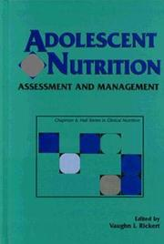Cover of: Adolescent Nutrition | Vaughn I. Rickert