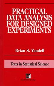 Cover of: Practical data analysis for designed experiments | Brian S. Yandell