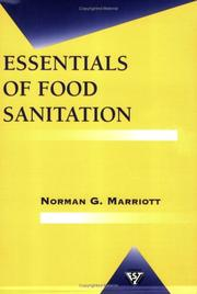 Cover of: Essentials of food sanitation | Norman G. Marriott