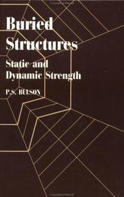 Cover of: Buried structures