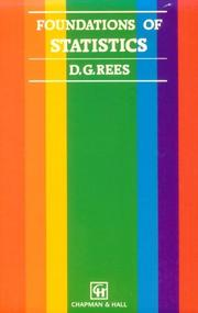 Cover of: Foundations of statistics | D. G. Rees