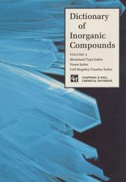 Cover of: Dictionary of inorganic compounds |