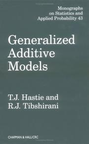 Generalized additive models by Trevor Hastie