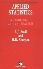 Cover of: Applied statistics