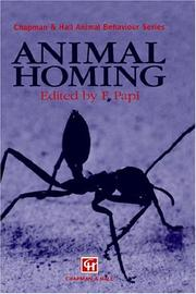 Cover of: Animal Homing (Chapman & Hall Animal Behaviour)