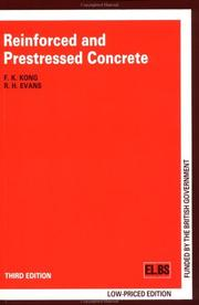 Reinforced and prestressed concrete by Kong, F. K.