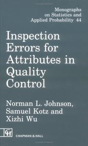 Cover of: Inspection errors for attributes in quality control