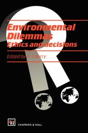 Cover of: Environmental Dilemmas