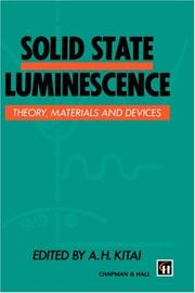 Cover of: Solid State Luminescence