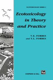 Cover of: Ecotoxicology in theory and practice | V. E. Forbes