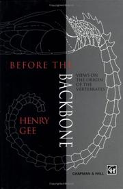 Cover of: Before the backbone