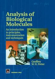 Cover of: Analysis of Biological Molecules