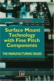 Cover of: Surface Mount Technology with Fine Pitch Components