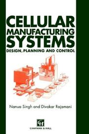 Cover of: Cellular Manufacturing Systems | N. Singh