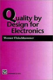 Cover of: Quality by Design for Electronics (Power Engineering Software)