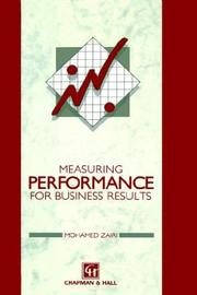 Cover of: Measuring performance for business results