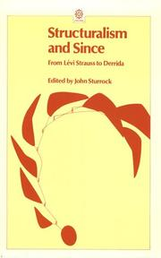 Cover of: Structuralism and Since | John Sturrock
