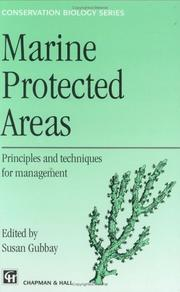 Cover of: Marine Protected Areas | S. Gubbay