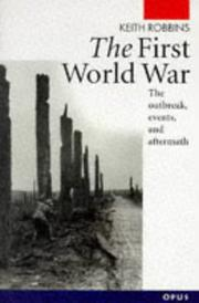Cover of: The First World War | Keith Robbins