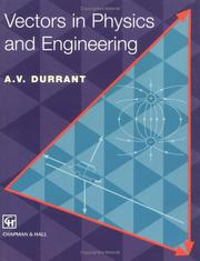 Cover of: Vectors in physics and engineering